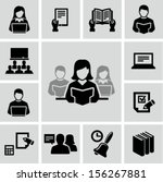 education icons  | Shutterstock .eps vector #156267881
