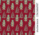 new year and christmas pattern. ... | Shutterstock .eps vector #1562686987