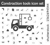 truck crane icon. constraction... | Shutterstock .eps vector #1562694544