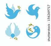 set of vector symbols dove of... | Shutterstock .eps vector #156269717