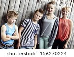 siblings of mixed gender and age | Shutterstock . vector #156270224