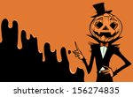 halloween card with jack o... | Shutterstock .eps vector #156274835