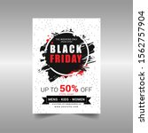 black friday sale flyer vector...   Shutterstock .eps vector #1562757904