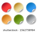round peel color stickers.... | Shutterstock .eps vector #1562758984
