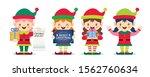 set of cute cartoon female... | Shutterstock .eps vector #1562760634