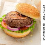 burger made with pure ground... | Shutterstock . vector #156276185