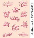 set of valentine themed hand...   Shutterstock .eps vector #1562769811
