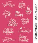 set of valentine themed hand...   Shutterstock .eps vector #1562769814