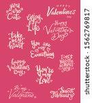 set of valentine themed hand...   Shutterstock .eps vector #1562769817