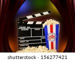 pop corns and cinema | Shutterstock . vector #156277421