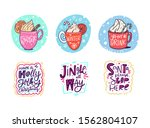 hot drinks in mug and holiday... | Shutterstock .eps vector #1562804107