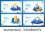 trendy flat illustration. set... | Shutterstock .eps vector #1562846371