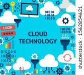 cloud technology paper template ... | Shutterstock .eps vector #1562854621