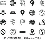 map vector icon set such as ...