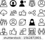 social vector icon set such as  ...