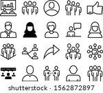 social vector icon set such as  ... | Shutterstock .eps vector #1562872897