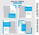 set modern square editable... | Shutterstock .eps vector #1562874931