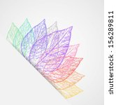 abstract colorful leaves | Shutterstock . vector #156289811