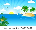 sunny and sea. sunny and sea...   Shutterstock .eps vector #156290657