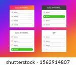 quiz option. question stickers...   Shutterstock .eps vector #1562914807