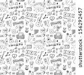 music symbols. seamless pattern | Shutterstock .eps vector #156292457