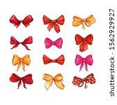 bow for hair decor flat vector... | Shutterstock .eps vector #1562929927