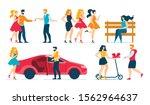 cartoon fashion people... | Shutterstock .eps vector #1562964637