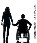 one handicapped man and woman... | Shutterstock . vector #156297821
