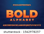 vector of stylized bold font... | Shutterstock .eps vector #1562978257