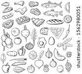 set of food. vector cartoon...