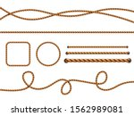 realistic ropes. yellow or... | Shutterstock .eps vector #1562989081