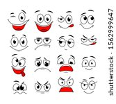cartoon expressions. cute face... | Shutterstock .eps vector #1562999647