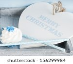merry christmas heart with... | Shutterstock . vector #156299984