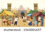 vector illustration of indian... | Shutterstock .eps vector #1563001657