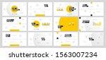 presentation template design....   Shutterstock .eps vector #1563007234
