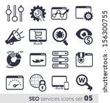 seo services icons set 05 mono | Shutterstock .eps vector #156300755