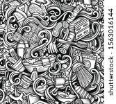 bathroom vector hand drawn... | Shutterstock .eps vector #1563016144