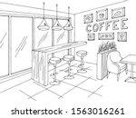 cafe interior graphic black... | Shutterstock .eps vector #1563016261