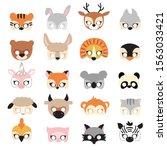 animal carnival mask set ...   Shutterstock .eps vector #1563033421