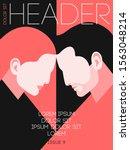 magazine or book cover design....   Shutterstock .eps vector #1563048214