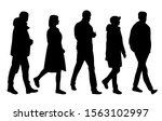 vector silhouettes of  men and... | Shutterstock .eps vector #1563102997