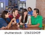 cheerful group of people... | Shutterstock . vector #156310439