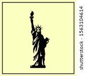 the statue of liberty. vector...   Shutterstock .eps vector #1563104614