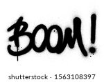 Graffiti Boom Word Sprayed In...