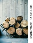 Fire Wood.  Home Living Concep...