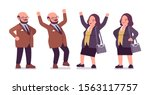chubby heavy positive man and...   Shutterstock .eps vector #1563117757