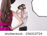 photographer and model. young... | Shutterstock . vector #156313724