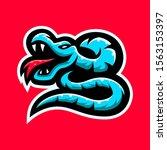 phyton snakes  viper for esport ... | Shutterstock .eps vector #1563153397