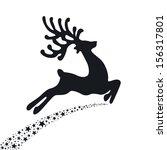 Black Reindeer Flying Stars