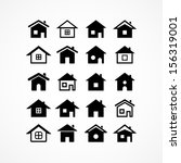houses icons | Shutterstock .eps vector #156319001